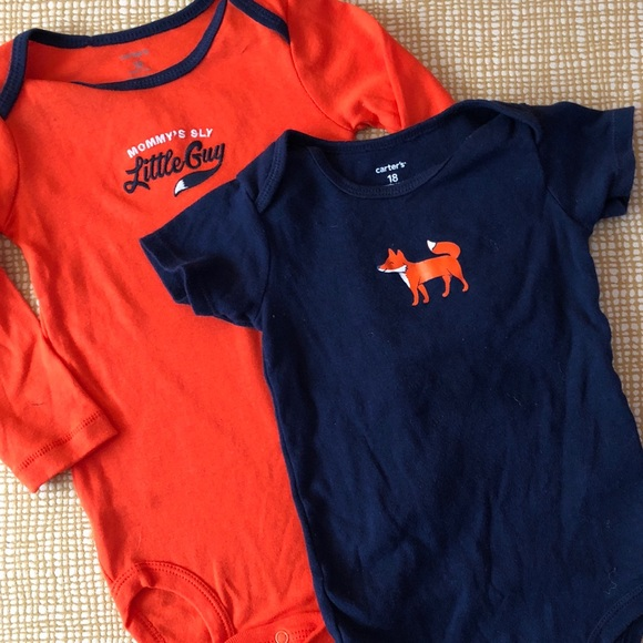 39176bc30 Carter's Shirts & Tops | Sly As A Fox Onesie Set 18 Months | Poshmark
